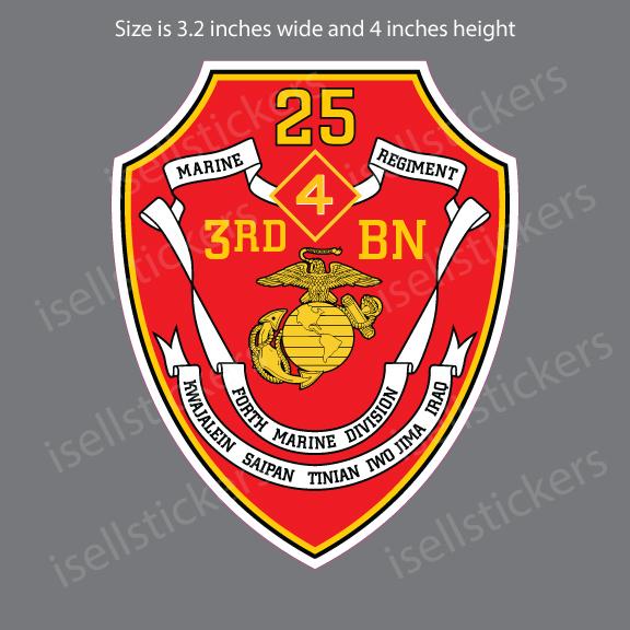 4th Infantry Division Regiment military Logo Bumper Sticker Vinyl Decal