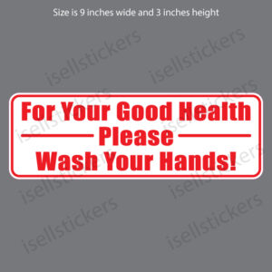 Bathroom Kitchen Wash Your Hands Restaurant Notice Door Vinyl Window Sticker Decal