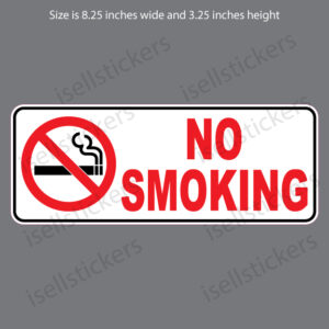 No Smoking Sign Notice Restaurant Store Door Entrance Sticker Window Decal