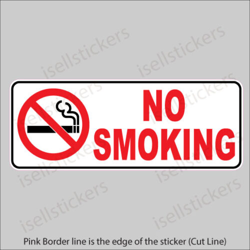 No Smoking Sign Notice Restaurant Store Door Entrance Sticker Window Decal