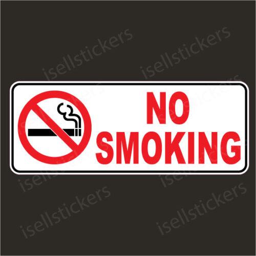 No Smoking Sign Decal Sticker Notice