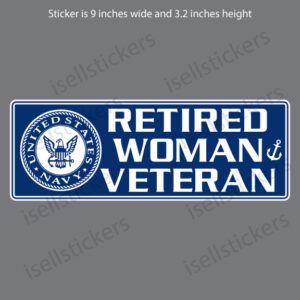 Retired Navy Woman Veteran USN Decal Sticker